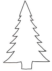 Christmas Tree Template For Lighted Tree