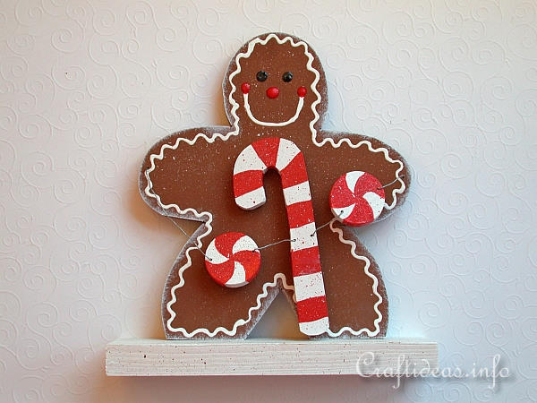 Christmas Wood Craft - Gingerbread Decoration