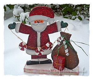 Christmas Wood Craft - Santa Claus