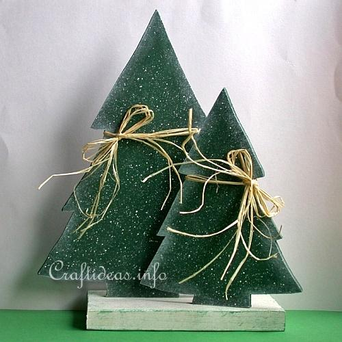 christmas wood craft wooden christmas trees set - Wooden Christmas Trees