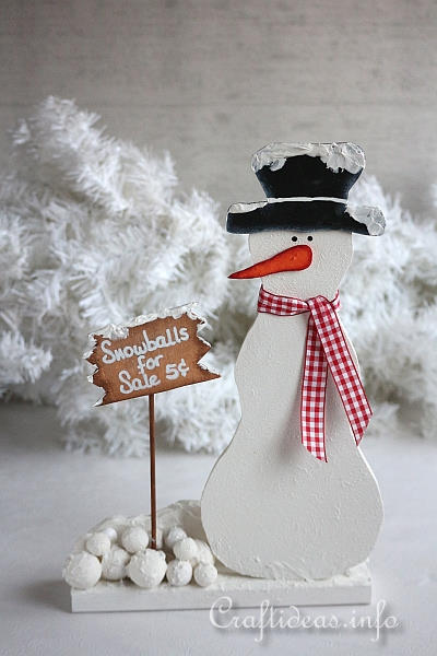 Christmas Craft Sale Ideas http://www.craftideas.info/html/snowballs_snowman.html