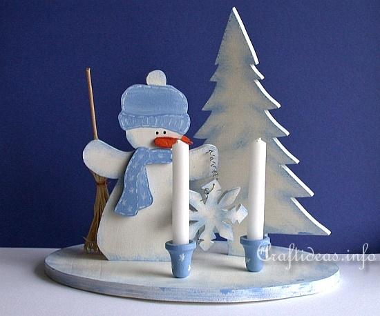 Christmas Wood Crafts With Free Patterns Wooden Snowman Centerpiece