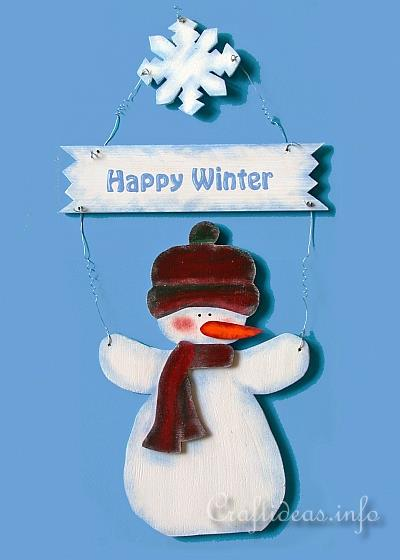 christmas wood craft wooden snowman door decoration for winter