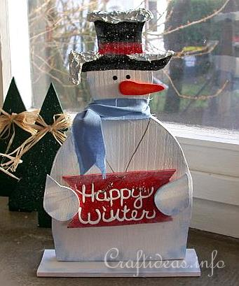 Wood Crafts With Free Patterns Christmas Scrollsaw Project Happy Cool Wooden Snowman Patterns