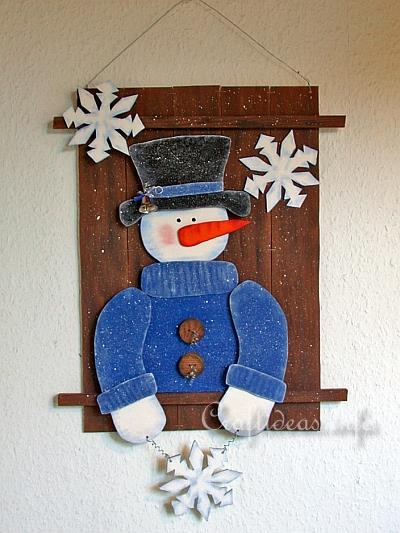 Christmas and winter woodcrafts snowman wall decoration for Christmas wood craft patterns