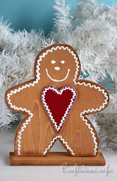 Christmas Wooden Gingerbread Man Craft