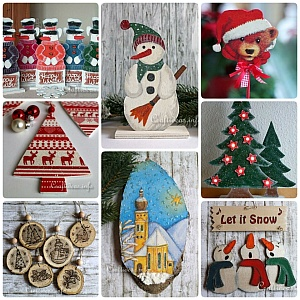 Christmas and Winter Wood Crafts