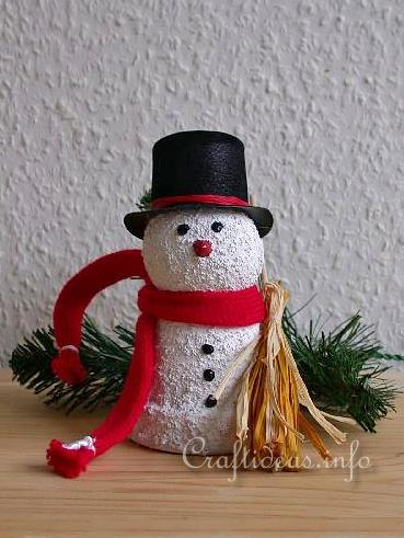 Free Kids Christmas Craft Project Clay Pot Snowman #0: Clay Pot Snowman Craft