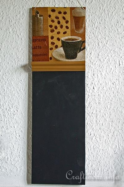 Coffee Shop Chalkboard Craft
