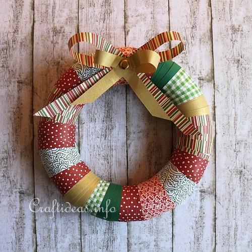 Christmas Craft Colorful And Easy Christmas Wreath
