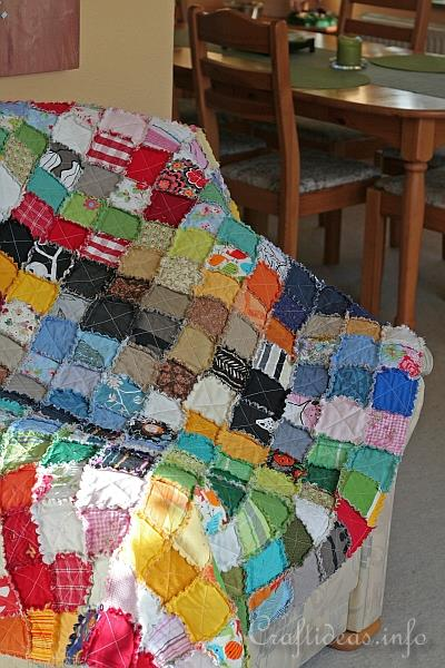 Colorful Rag Quilt 1