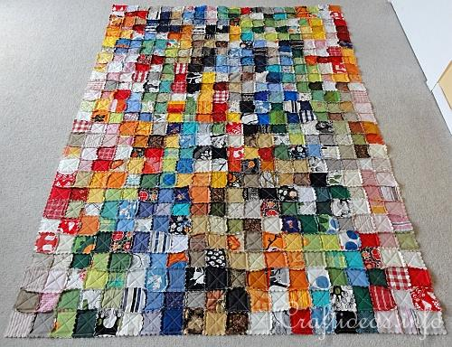 Colorful Rag Quilt 2