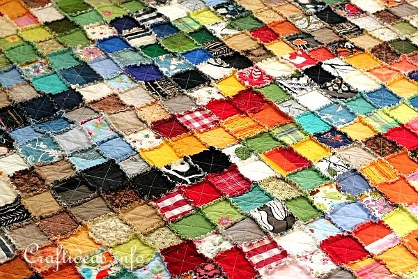 Colorful Rag Quilt 3