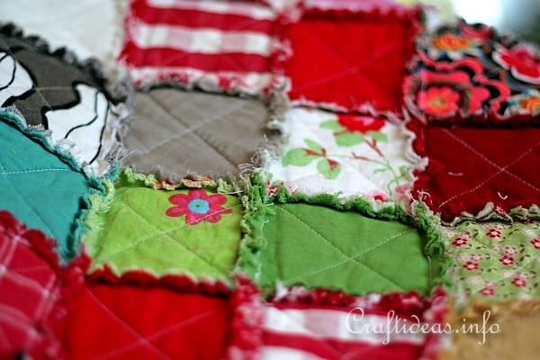 Colorful Rag Quilt 4