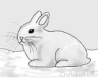 Coloring Book Page - Easter Bunny