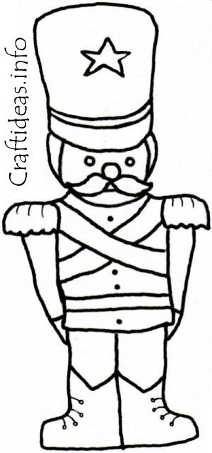 coloring book page toy soldier
