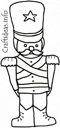 Coloring Book Page - Toy Soldier