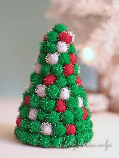 Christmas Craft Styrofoam Tree Decorated With