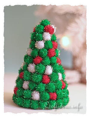 Christmas Craft Styrofoam Christmas Tree Decorated With