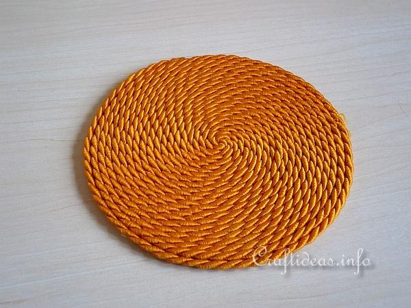 Corded Drink Coaster - Detail