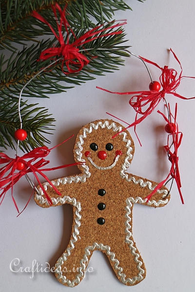 Cork Gingerbread Man Ornament 1