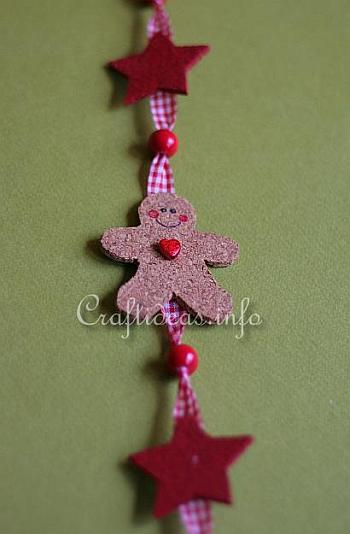 Cork Gingerbread Man and Star Hanging Decoration 2