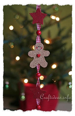 Cork Gingerbread Man and Star Hanging Decoration