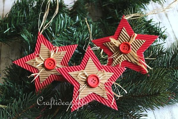 Corrugated Cardboard Christmas Star Ornament 2