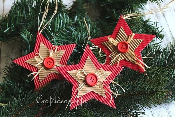 Free Kids Craft Project Tree Ornament Paper Star