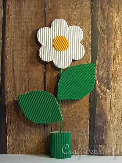 Mother S Day Craft For Kids Corrugated Cardboard Flower