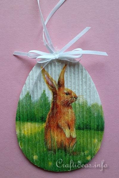Paper Craft For Easter Corrugated Cardboard Easter Ornaments