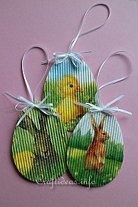 Corrugated Cardboard Easter Ornaments