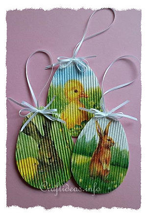 Paper Craft For Easter Corrugated Cardboard Easter Ornaments