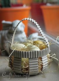 Corrugated Paper Easter Basket
