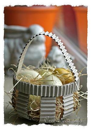 Corrugated Paper Panier de Pâques