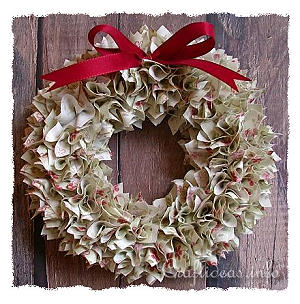 Country Fabric Scraps Wreath