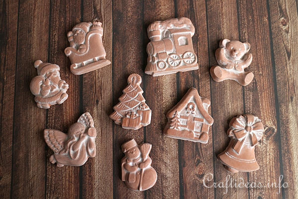 Craft Christmas Ornaments - Terracotta Plaster of Paris Ornaments