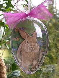 Craft Idea for Easter - Acrylic Egg with Easter Bunny Motif