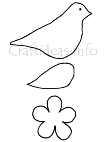 Craft Pattern - Bird and Flower