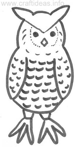 coloring book page for kids owl print out this owl for the kids to ...