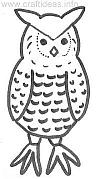 Craft Pattern - Fall - Owl
