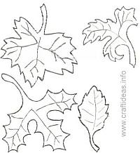 Craft Pattern - Fall Leaves