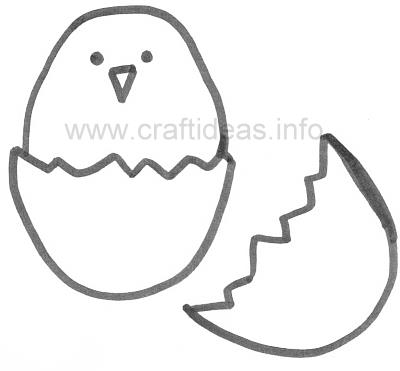 Craft Pattern - Spring - Chick and Egg