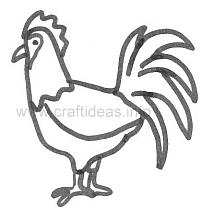 Craft Pattern - Spring - Rooster