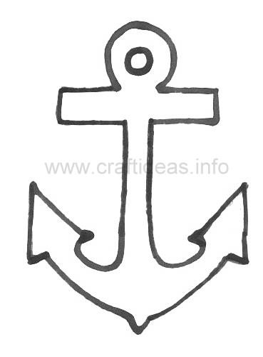 Free Summer And Maritime Craft Pattern Anchor Template