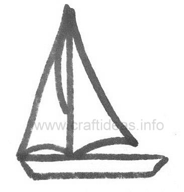 Free Summer And Maritime Crafts Patterns Sailboat Template