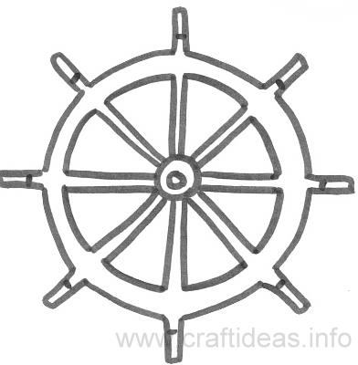 Free Summer And Maritime Craft Patterns Ships Wheel