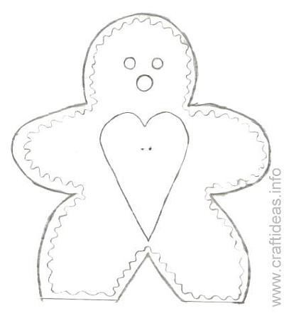 Craft Pattern for Gingerbread Man Recipe Holder