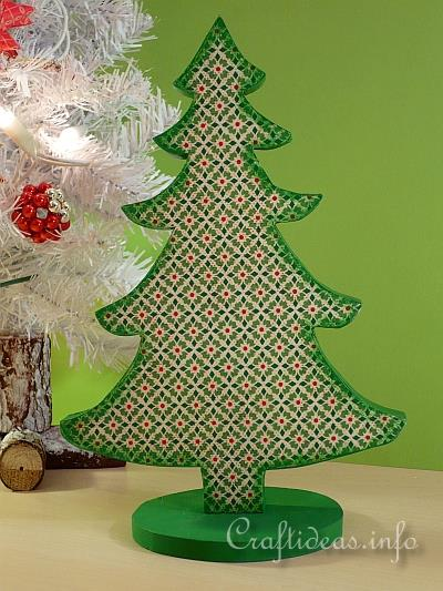 Craft for Christmas - Wooden Christmas Tree Decoration