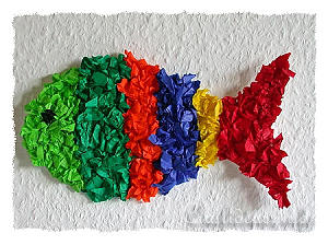 Craft for Kids - Paper Craft - Hanging Fish Decoration